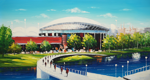 Adelaide Oval - Hand Embellished Canvas Art - Asst Sizes EA549