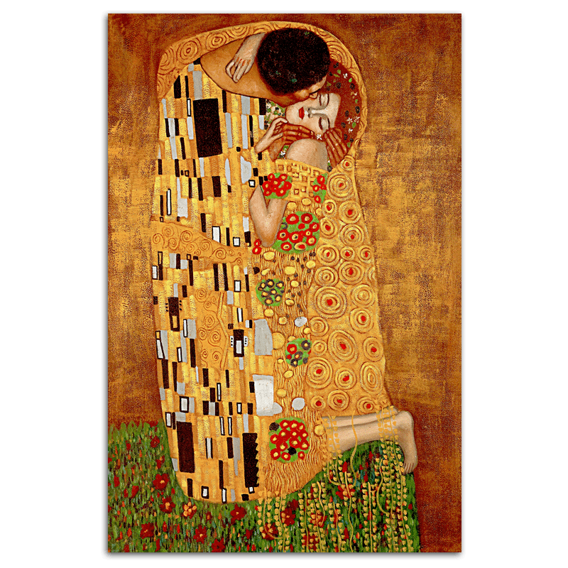The Kiss (Gustav Klimt) - 80x120cm Embellished Art - EA124