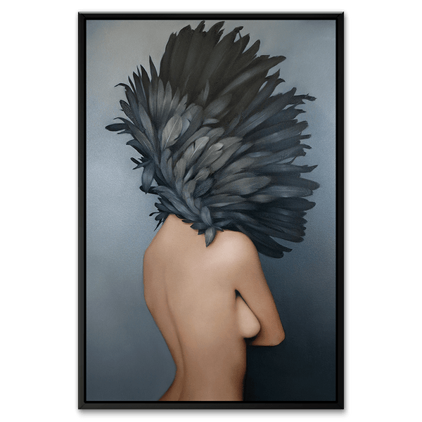 Ruminating Beauty - Canvas Art with Black Floating frame - TOP162