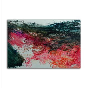 Asst Abstract Designs / Colourful Feather - Unframed Canvas Print (BXY246c)