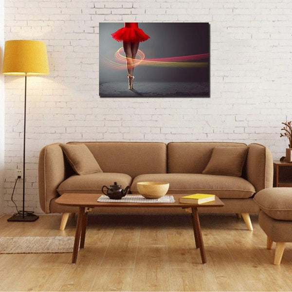 Asst Ballerina Art - Rolled Canvas Print Only (BXY235b)
