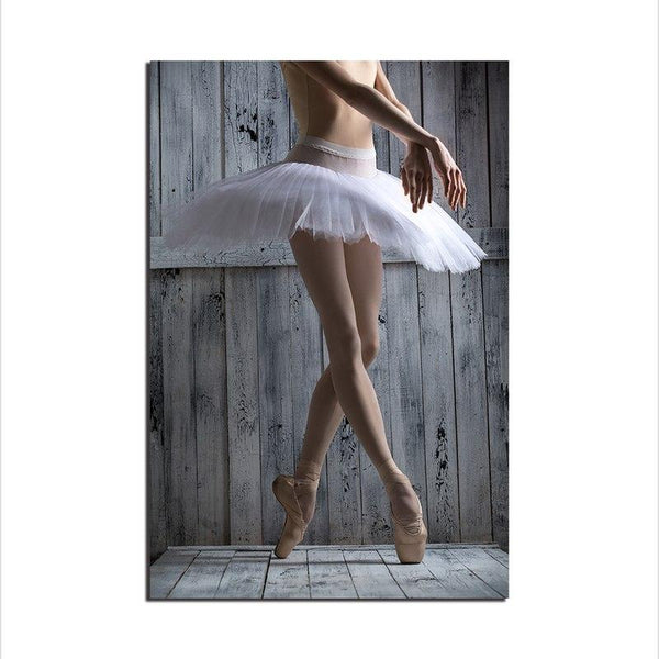 Asst Ballerina Art - Unframed Canvas Print (BXY235b)