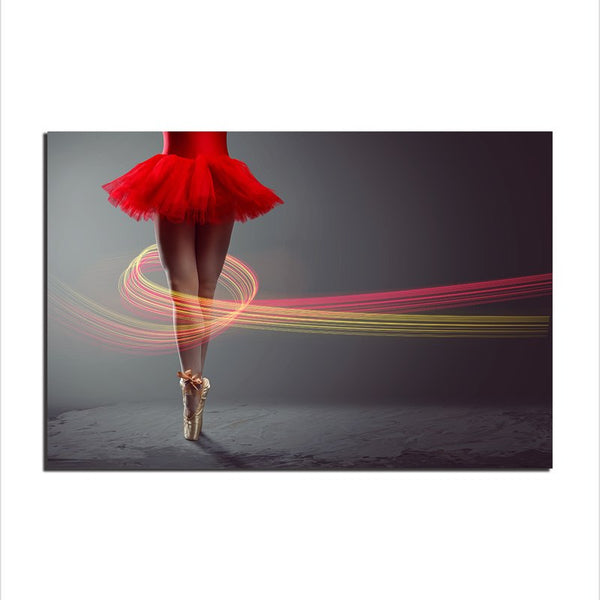 Asst Ballerina Art - Unframed Canvas Print (BXY235)