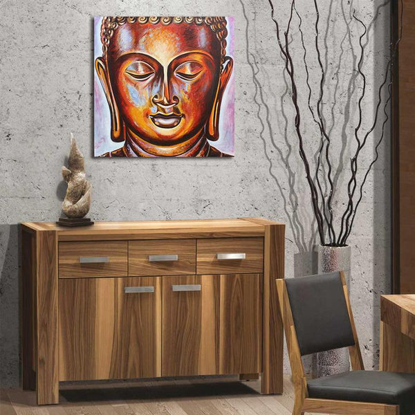 Asst Stylized Buddha - Unframed Canvas Print (BXY242b)
