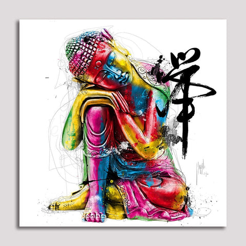 Asst Stylized Buddha - Unframed Canvas Print (BXY242)