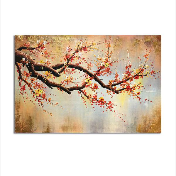 Asst Buddha Statue/Cherry Blossom Art - Rolled Canvas Print Only (BXY239b)