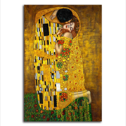 Gustav Klimt The Kiss - Unframed Canvas Print (BXY233)