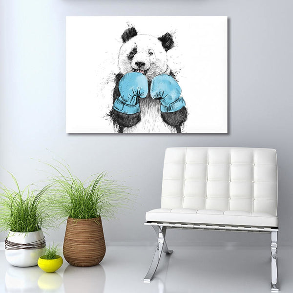 Boxing Panda - Unframed Canvas Print (BXY203)