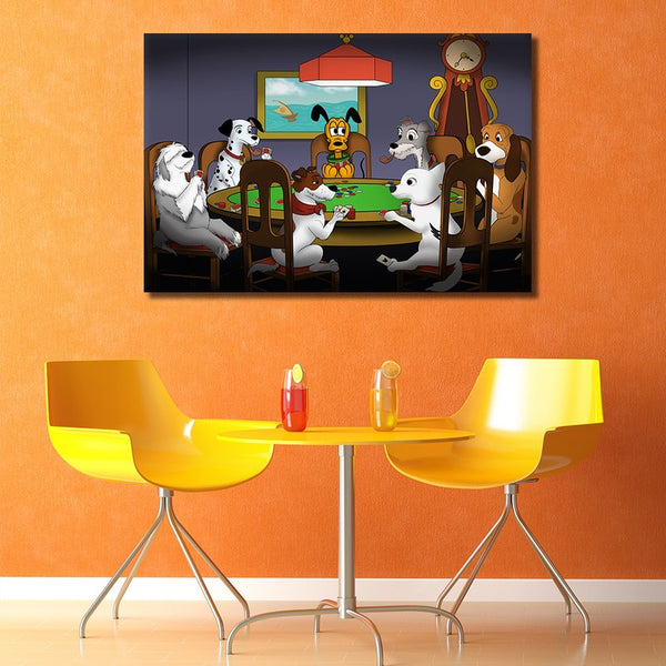 Kids Art / Cartoon Animals - Unframed Canvas Print (BXY262)