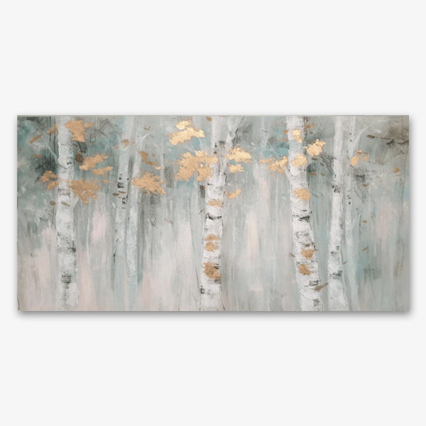 Birch Bliss with Gold Leaf - Asst Sizes Canvas Art - EA206