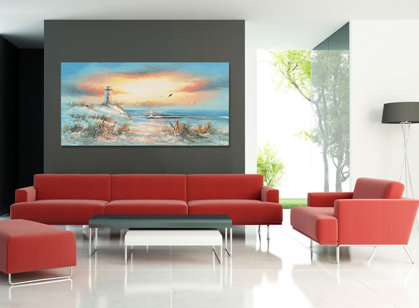 The Lighthouse - Asst Sizes Canvas Art - EA313