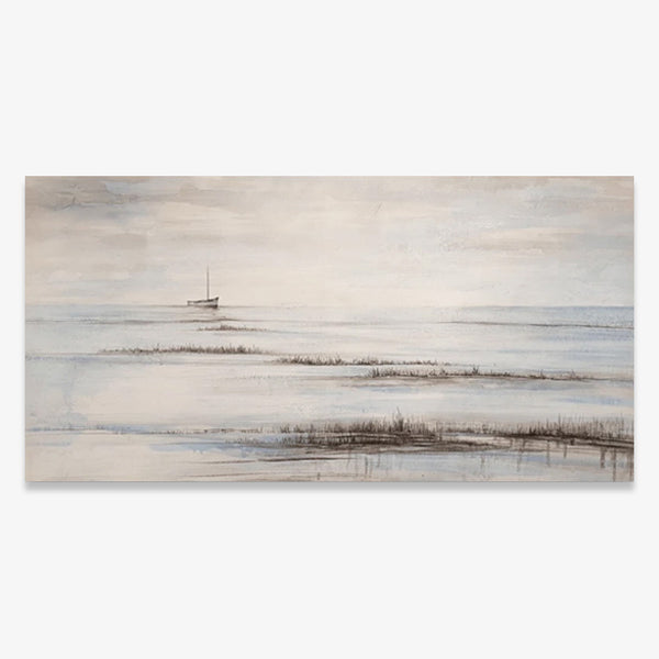 The Boat in the River - Asst Sizes Canvas Art - EA850