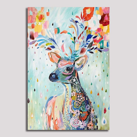 Colourful Deer - Unframed Canvas Print (BXY269)