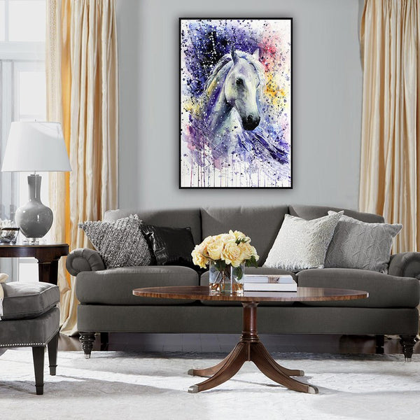 Asst Watercolor Style Horse - Rolled Canvas Print Only (BXY245)