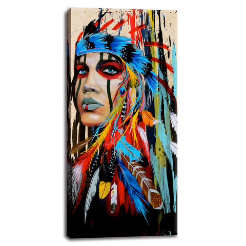 Asst Native American Headdress - Unframed Canvas Print (BXY225)