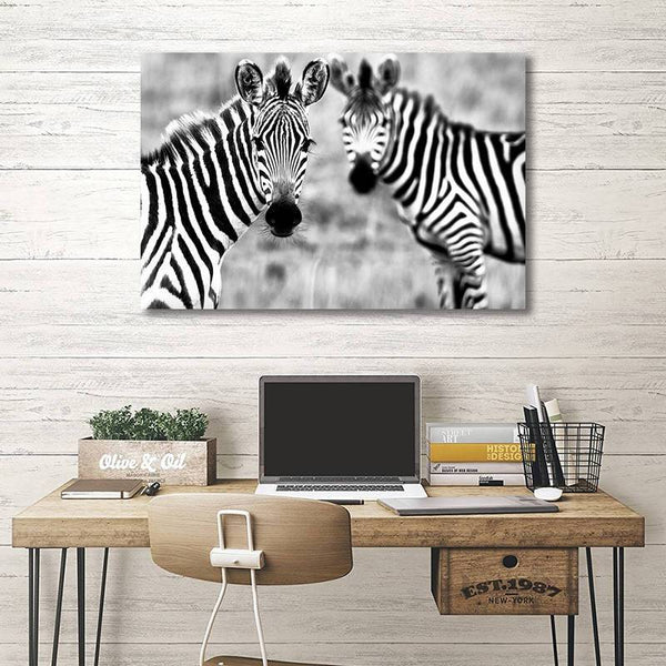 Asst African Animals Cow/Zebra/Rhinoceros - Rolled Canvas Print Only (BXY228c)
