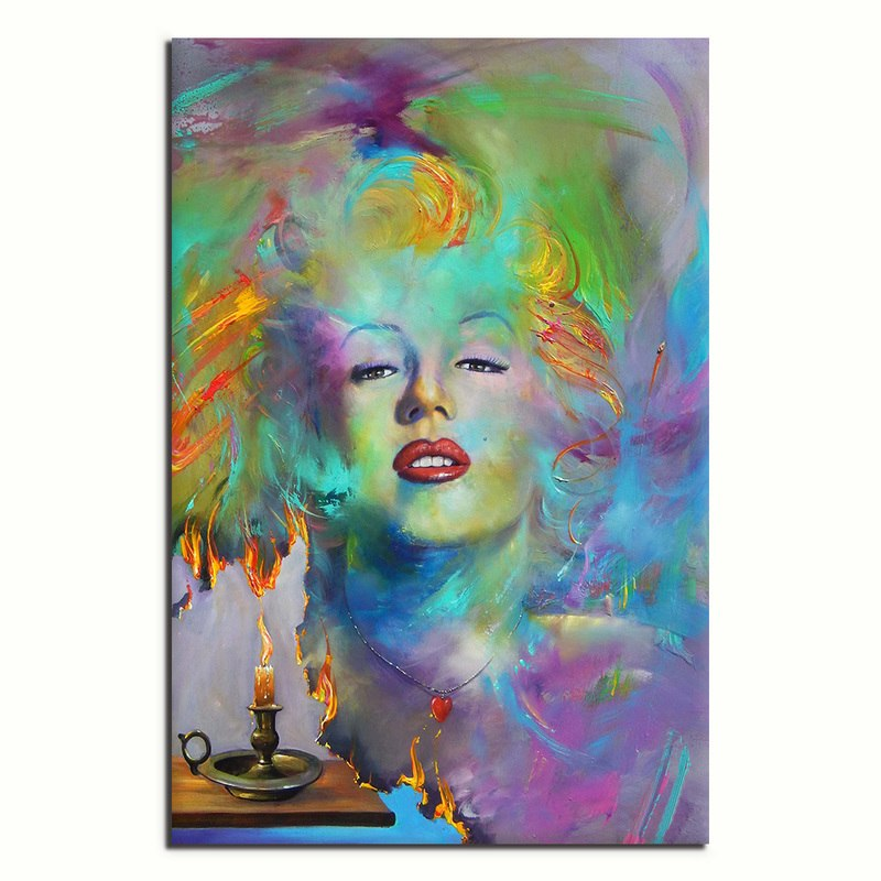 Abstracted Monroe - Unframed Canvas Print (BXY296)