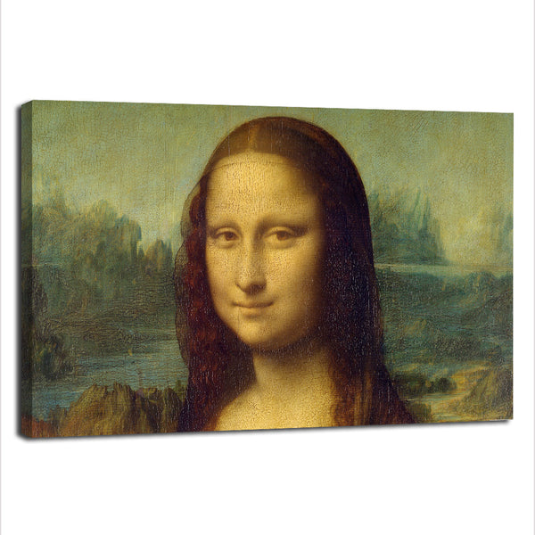 Mona Lisa Portrait - Rolled Canvas Print Only (BXY254)