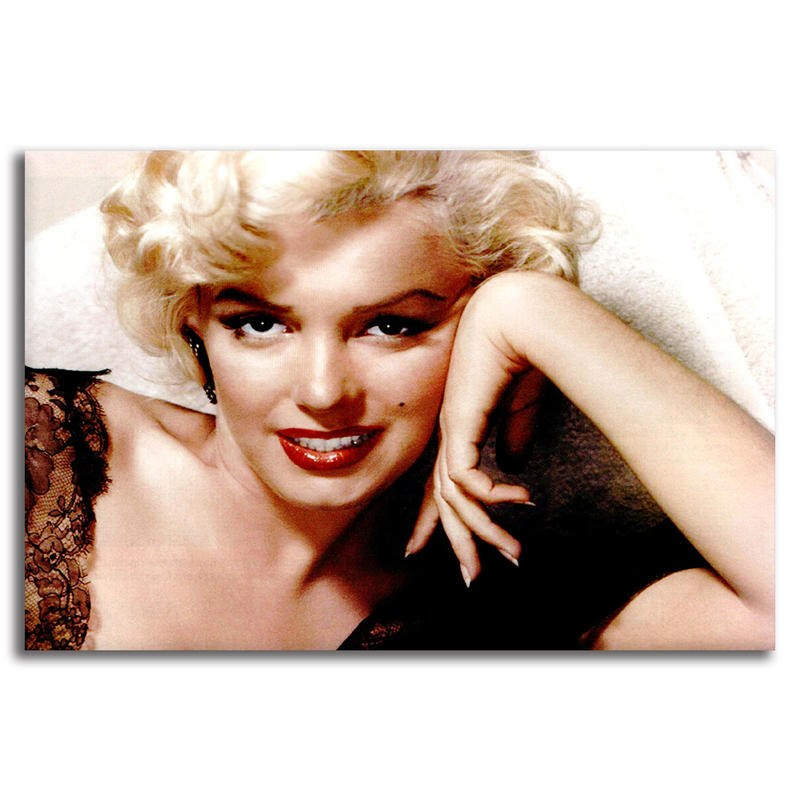 Beautiful Marilyn Monroe Photo Picture Print On Framed Canvas Wall Art  Decor