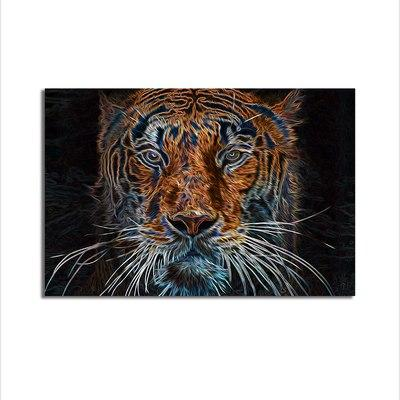 Asst Tiger/Horse/Deer Art - Unframed Canvas Print (BXY244c)