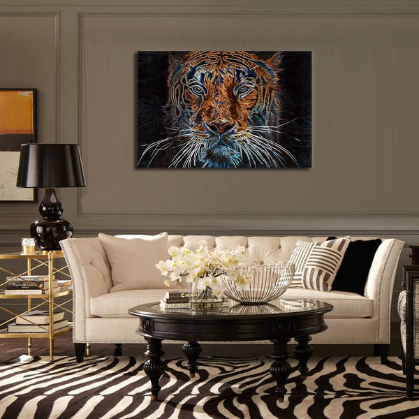 Asst Horse/Deer/Tiger Art - Unframed Canvas Print (BXY244b)