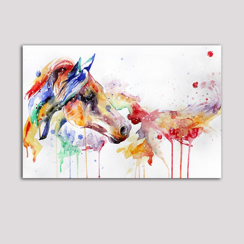 Asst Horse/Deer/Tiger Art - Unframed Canvas Print (BXY244)