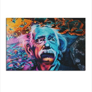 Asst Quirky Einstein - Unframed Canvas Print (BXY240)