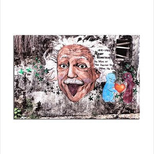 Asst Quirky Einstein - Rolled Canvas Print Only (BXY240)