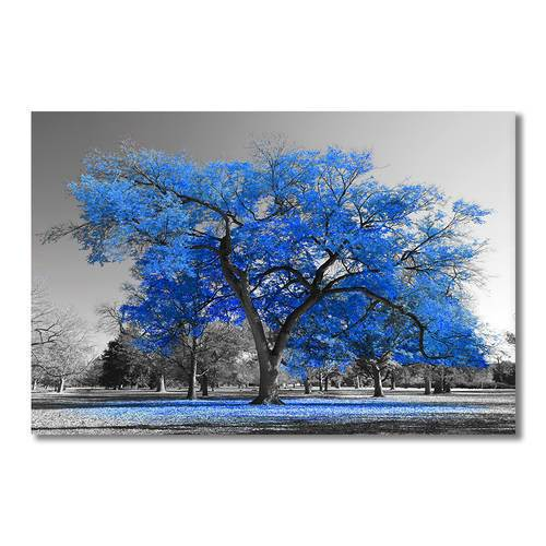 Asst Blue Trees - Rolled Canvas Art (BXY212b)