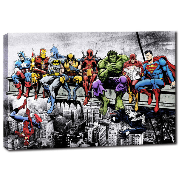 Superheroes Unite - Rolled Canvas Print Only (BXY306)