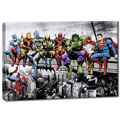 Superheroes Unite - Unframed Canvas Print (BXY306)