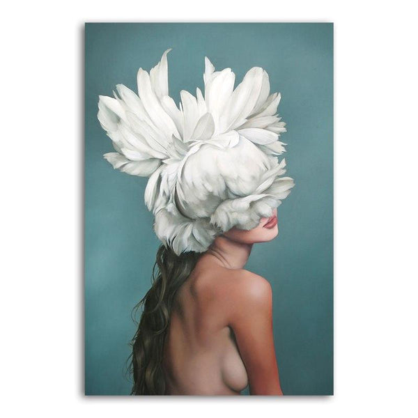Asst Feather Haired Lady - Rolled Canvas Print Only (BXY218c)