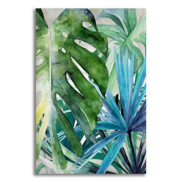Asst Tropical Leaves - Unframed Canvas Print (BXY232b)