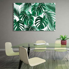 Asst Tropical Leaves - Rolled Canvas Print Only (BXY232b)