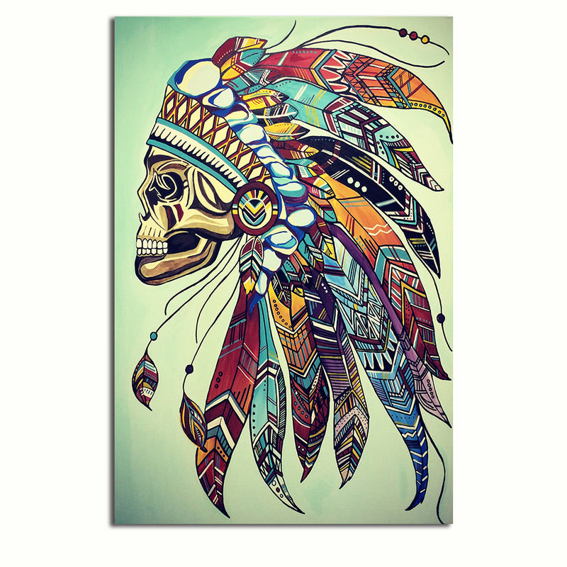 Tribal Skull - Rolled Canvas Print Only (BXY204)