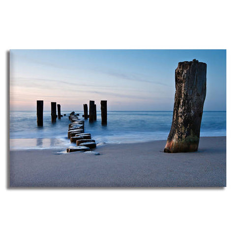 Asst Beach Paradise Boats/Jetty - Unframed Canvas Print (BXY230)