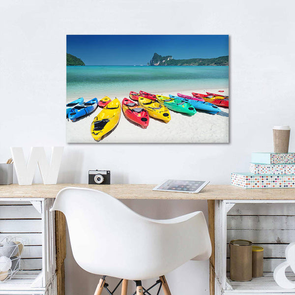Asst Beach Paradise Boats/Jetty - Rolled Canvas Print Only (BXY230)