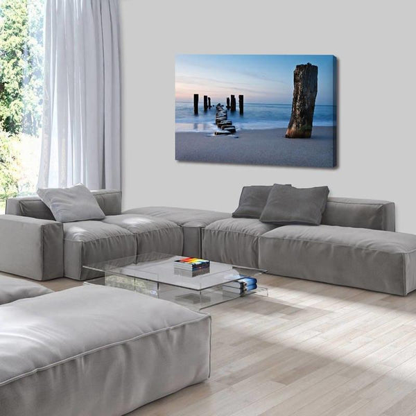 Asst Beach Paradise Boats/Jetty - Rolled Canvas Print Only (BXY230b)