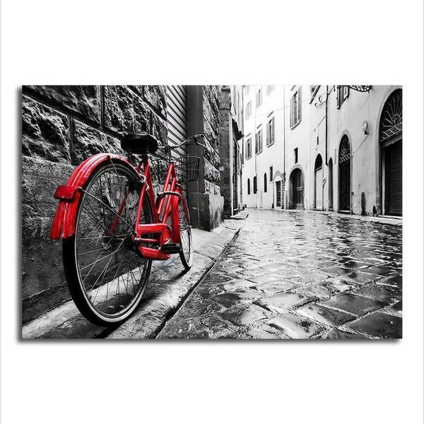 Red Bike - Unframed Canvas Print (BXY221c)