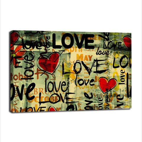 Words of Love - Unframed Canvas Print (BXY281)
