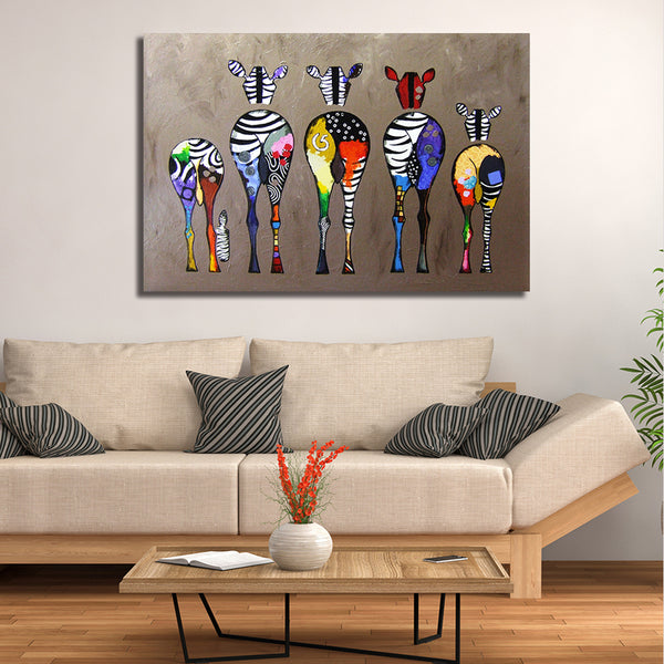 Animal Behinds/Kids Art - Rolled Canvas Print Only (BXY266)