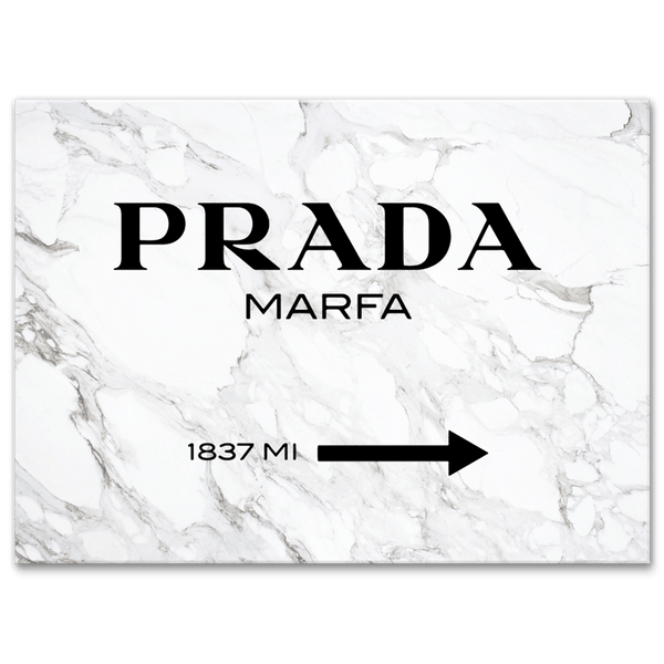 Prada Marfa on Marble - Canvas Print ART - CN263 - 50x70cm