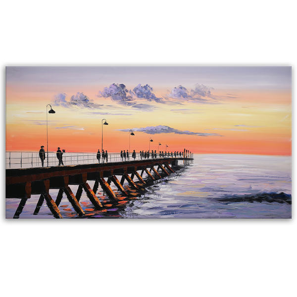 Glenelg Jetty - Asst Sizes Ready to hang Art - EA230