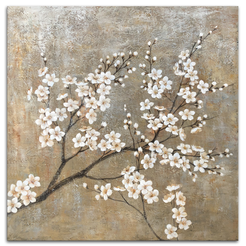 Blossoming Branch - Hand Embellished Canvas Art - EA862