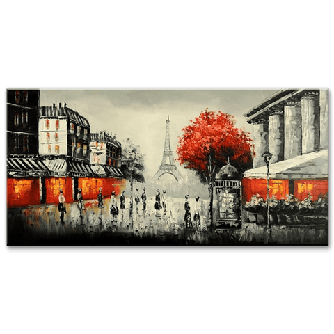 Parisian Dream - Hand Painted Art - YA507