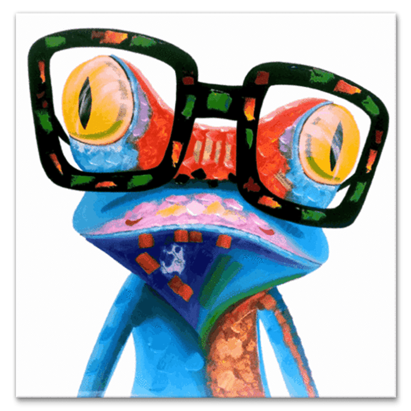 Professor Frog - Hand Painted Art - YA453