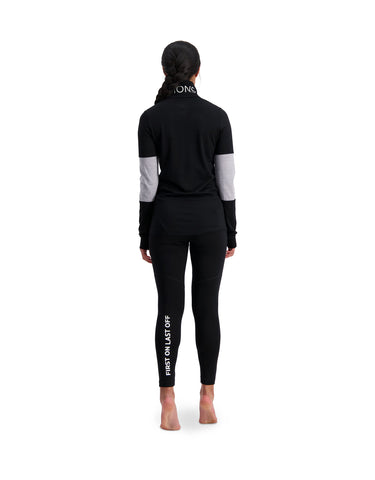 Mons Royale Womens Cornice Half Zip Base Layer
