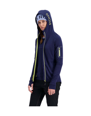 Mons Royale Womens Ascend Midi Full Zip Mid Layer