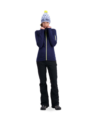 Image of Mons Royale Womens Ascend Midi Full Zip Mid Layer