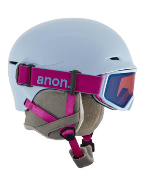 Anon Define Junior Ski Helmet-Arctic Blue-Small / Medium-aussieskier.com